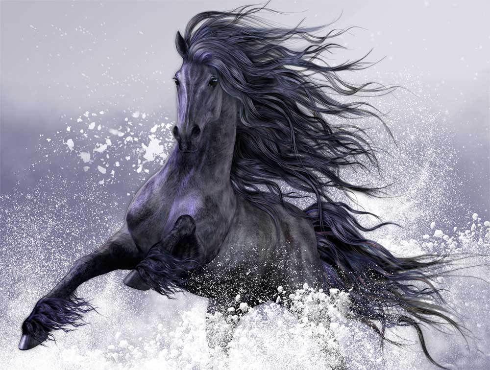 -ss-03190 animal cavalo casa decoração top handgrafts artesanato artesão arte pintura a óleo hd impressão arte pintura a óleo sobre fotos de lona