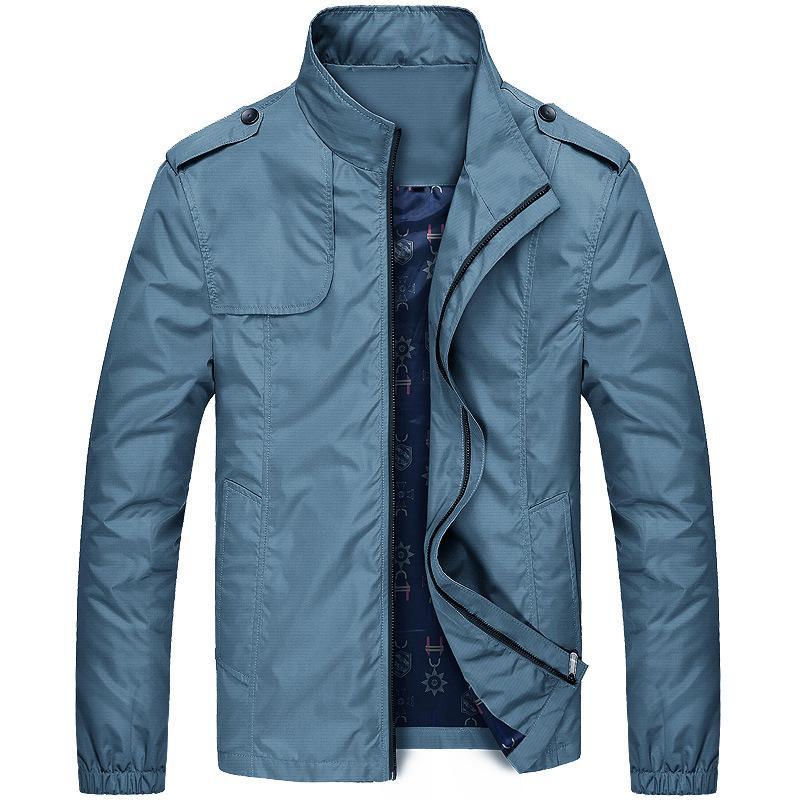 Мода весна мужская дизайнерская куртка стенд воротник молния пальто повседневная ветровка пальто мужской бренд одежды Homme тонкие куртки