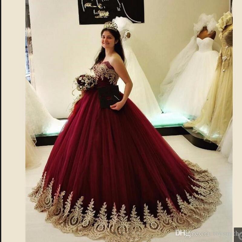 Vestidos Debutante Vestido de 15 años Burdeos Vestidos de Quinceañera Vestido de gala 2019 Dulce 16 vestidos Princesa