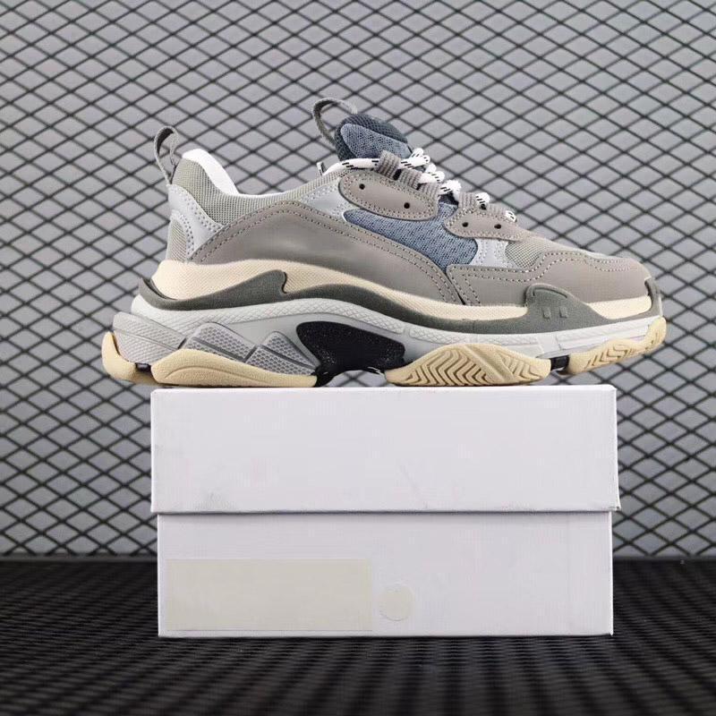 Zapatos papá París 17FW Triple-S Caminar zapatos de lujo Chaussures Femme Triple S zapatillas de deporte de diseño para hombres mujeres de la vendimia viejo abuelo entrenador L25