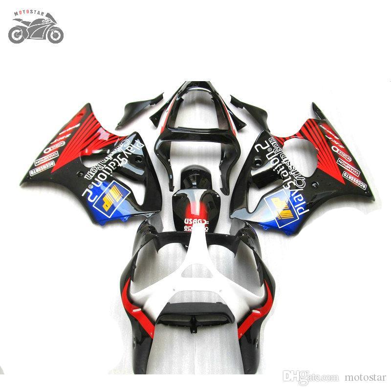 Moldado por injecção para a Kawasaki 2000 2001 2002 ZX6R chapa para motocicleta corpo kits carenagem ZX6R 00 01 02 ZX 6R