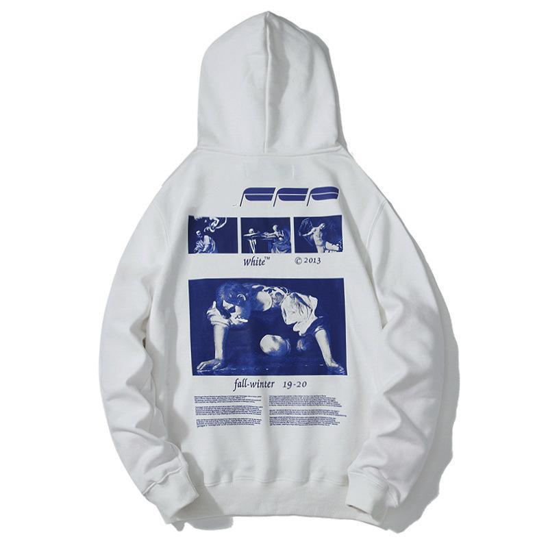 2019 Новая мода мужская марка Дизайнер Толстовки Hip Hop Толстовка Повседневный пуловер с капюшоном Письмо печати Пара Hoodie Большой размер M-2XL