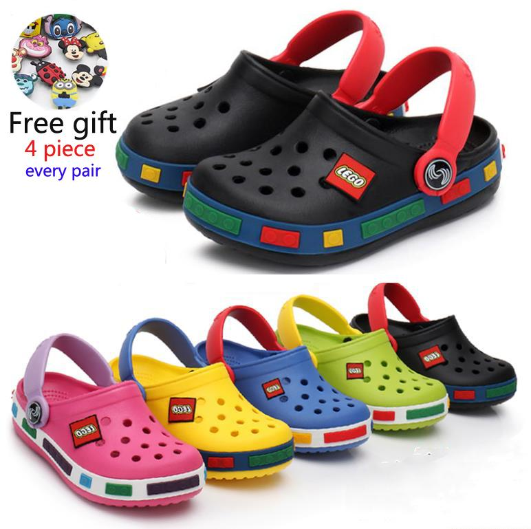 2019 Moda Boy Girl Beach Zapatillas Sandalias de Los Niños Cro Verano de Dibujos Animados Zapatos de los niños Resistencia Eva Transpirable Antideslizante Bebé Y190523