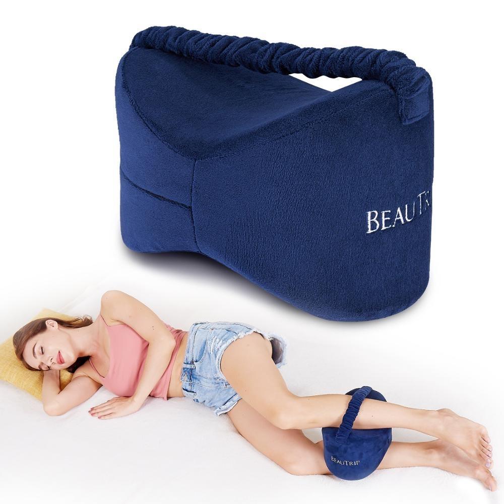 Memory Foam Knee Pillow Leg almofadas laterais Sleeper corpo Almofadas de viagem Sob joelho Dormir engrenagem ciática alívio da dor Voltar Apoio SH190925