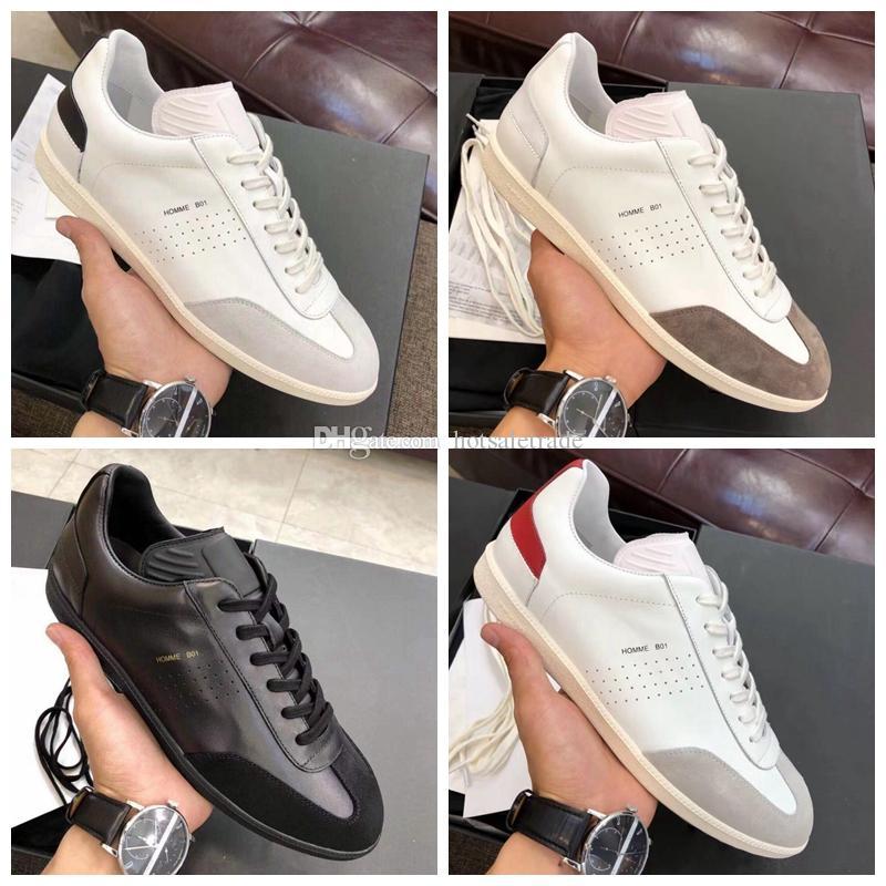 Sneaker in pelle Platform Hommes scarpa da tennis B01 scarpe casual Moda Uomo Scarpe Chaussette con la scatola, sacchetti di polvere