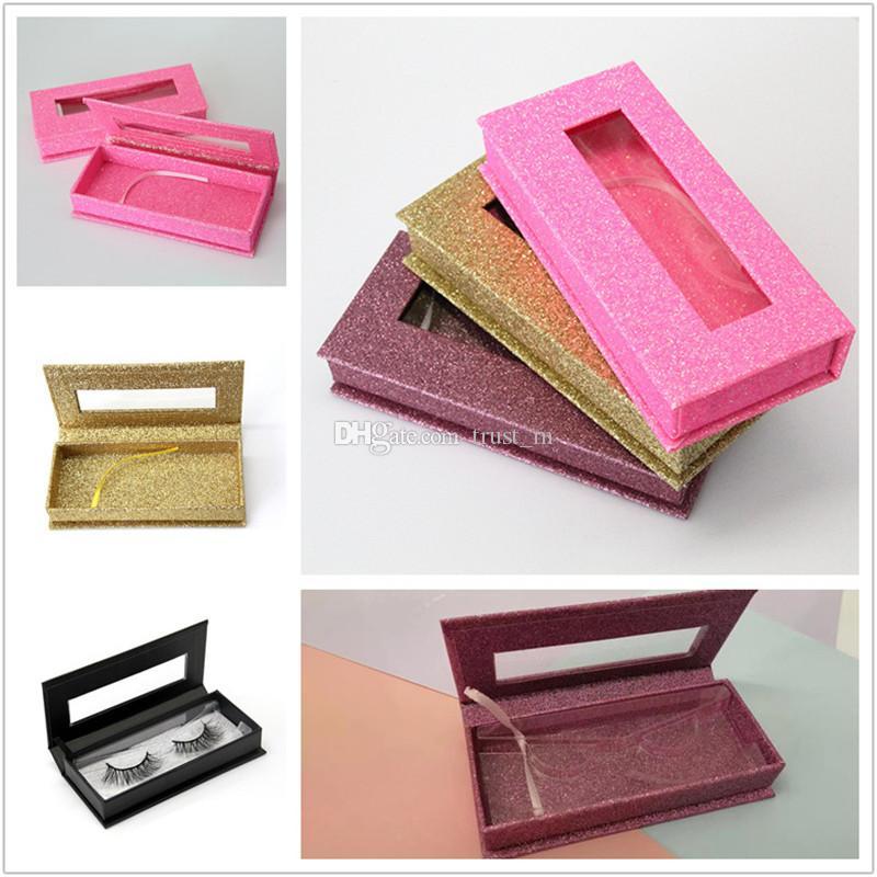 صندوق جلدة المغناطيسي مع علبة رمش 3D المنك الرموش صناديق الرموش الصناعية التغليف حالة إفراغ رمش صندوق