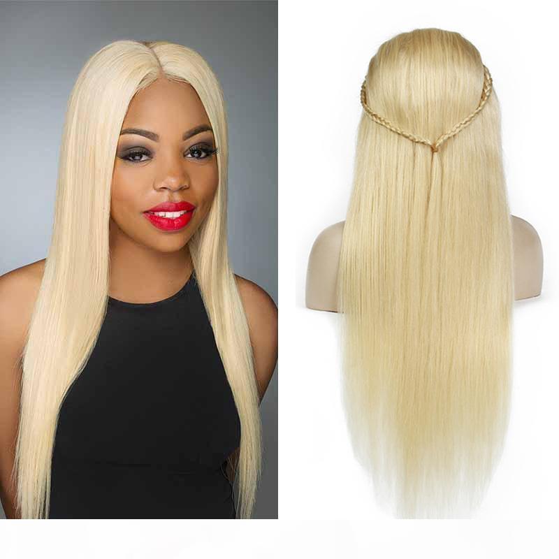 Platinum Blonde Menschenhaar-Perücken brasilianischen Glueless Spitze-Front-Perücken 613 # Honey Blonde volle Spitze Menschenhaar-Perücken für schwarze Frauen