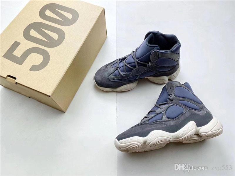 2019 Stampa di originali autentici 500 Alta Ardesia 3M riflettente nero Kanye West FW4968 scarpe da corsa Uomo Donna di sport scarpe da tennis con la scatola
