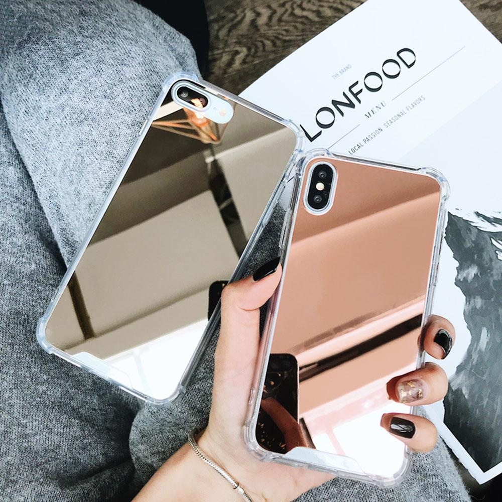 Copertura di lusso della cassa dello specchio di placcatura telefono per l'iPhone 7 del iPhone 6 6S 8 Plus X 10 11 XR XS XS Max SE 2020 Caso Coque