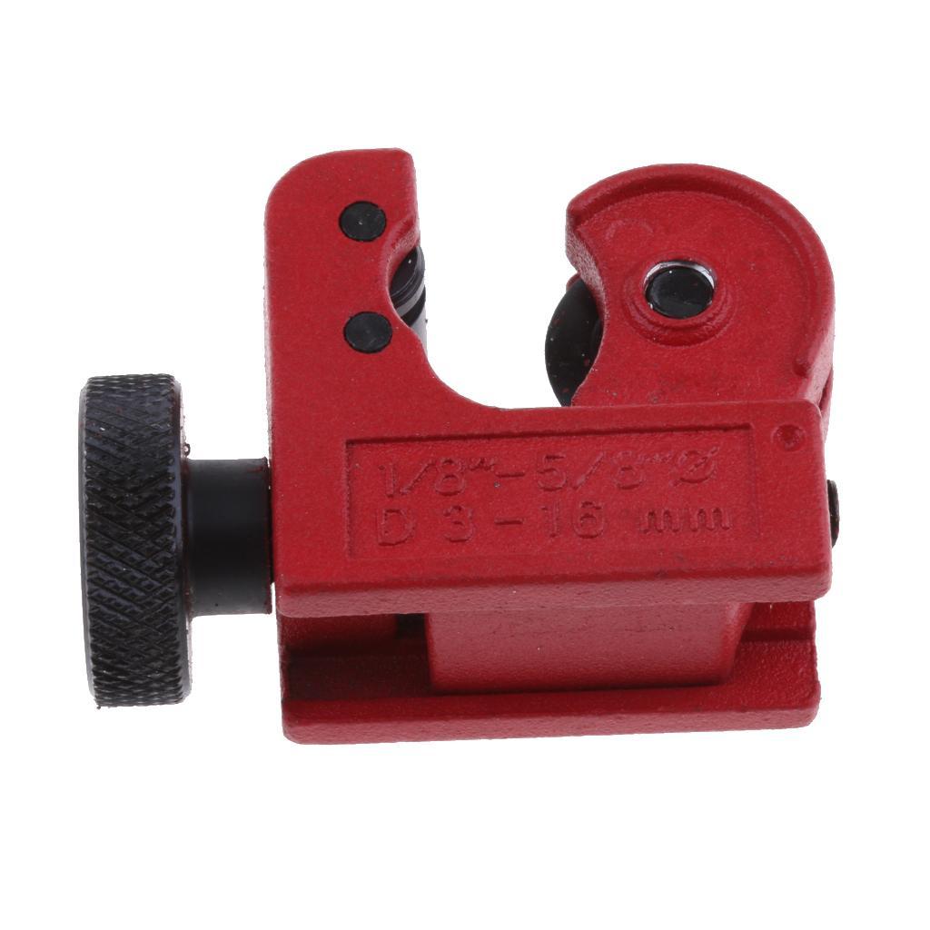 Mini Tubing Cutter Copper Pipe Plumbing Brake Line Cutting Plastic PVC Brass