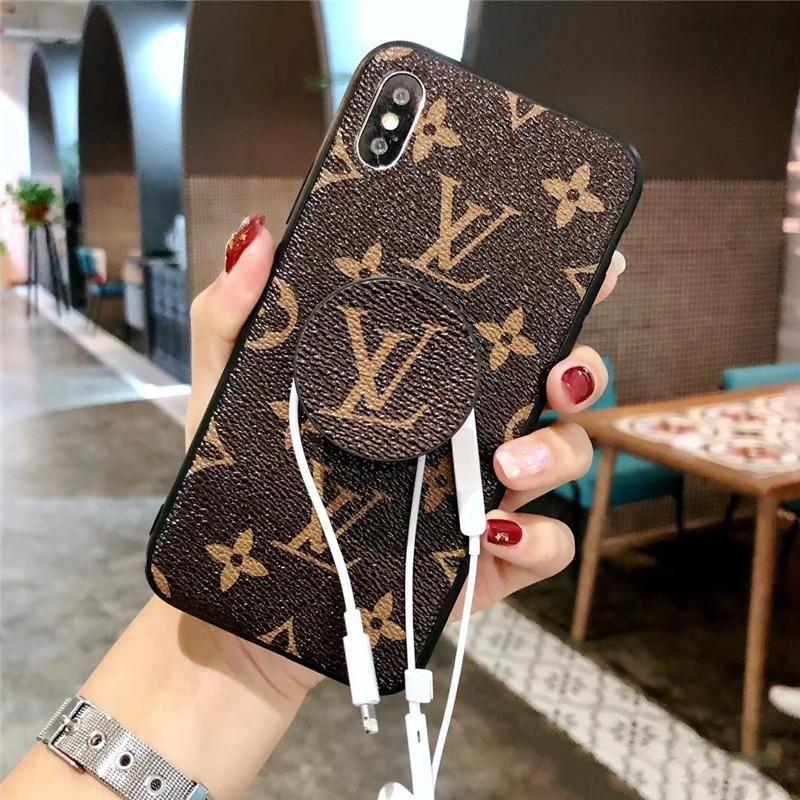 Designer iPhone XS Max Hülle Für iPhone X XR 6 7 8 Plus iPhoneX Fashion Handyhüllen Back Cover Mit Kickstand Grips