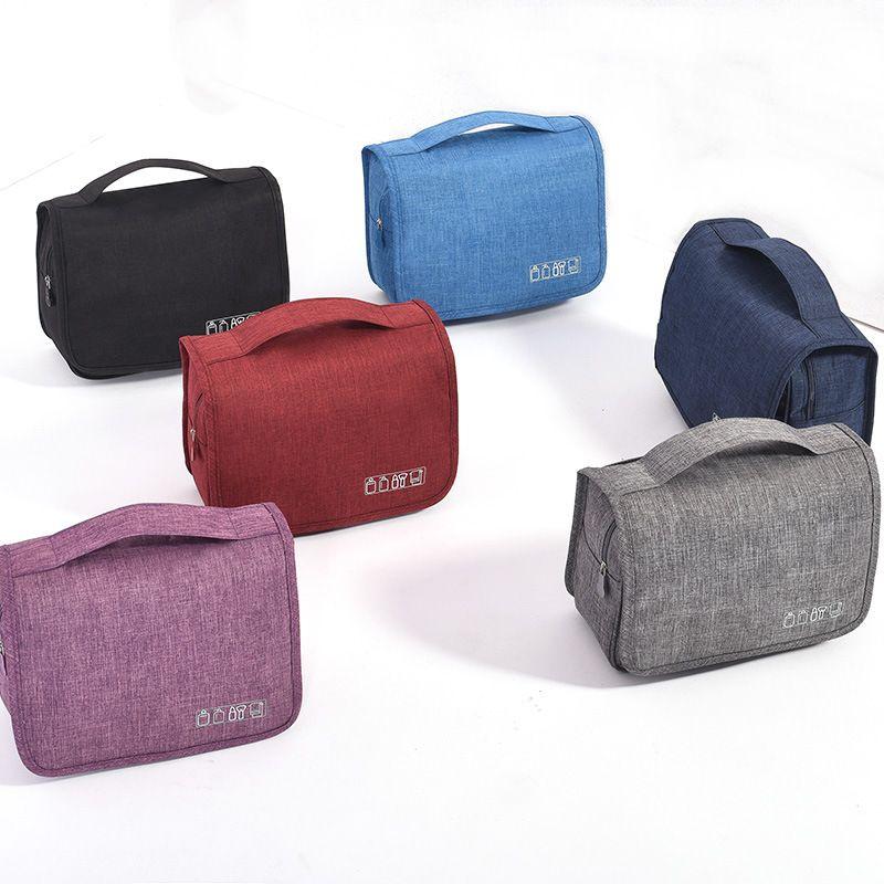 Portable Cosmetic Bag Large Capacity Simple Multi-functional Storgage Bag Outdoor Travel Adhesive Hook Wash