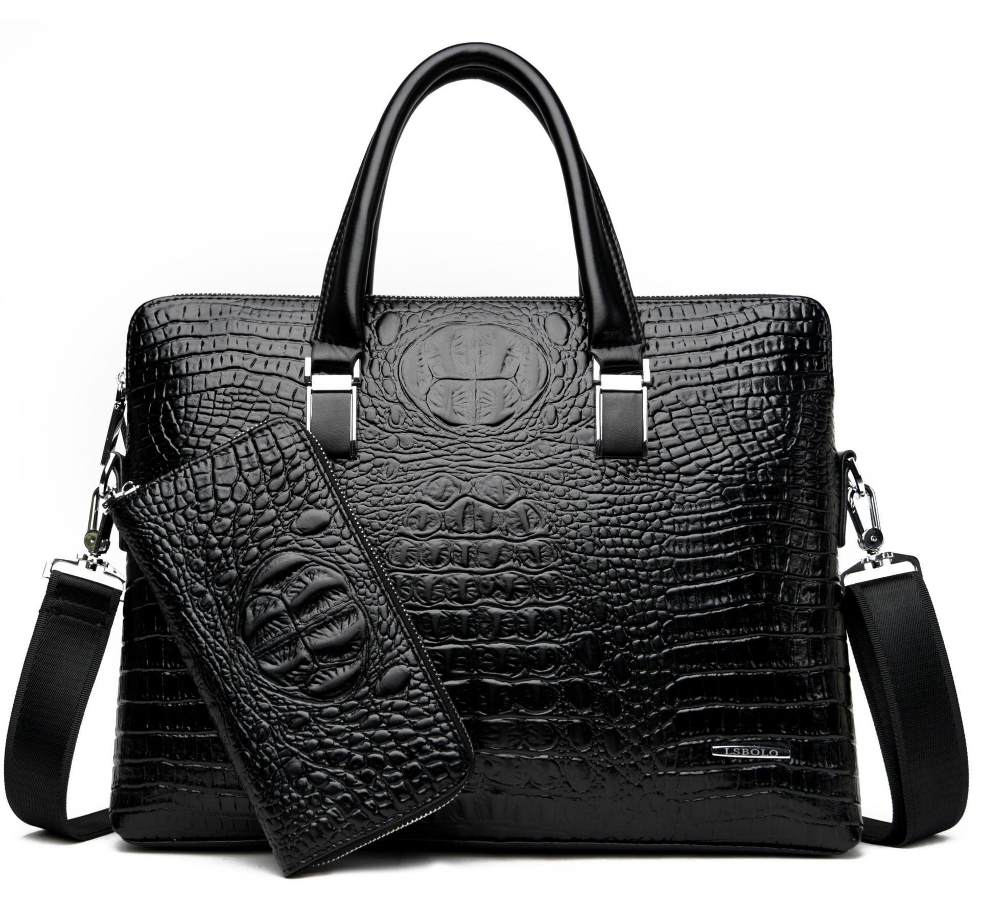 in pelle di design-pu valigette borsa del computer portatile 2018 di business per gli uomini di alta qualità degli uomini di lusso di marca borsa l'affare uno ottiene la borsa gratis due send