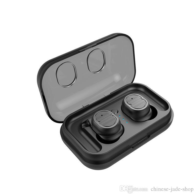 TWS-8 Touch Control Bluetooth 5.0 EDR Kopfhörer IPX5 Wasserdicht Echte drahtlose Earbuds Sport Mikr.Headset Ladebox Earhook 12pcs / lot