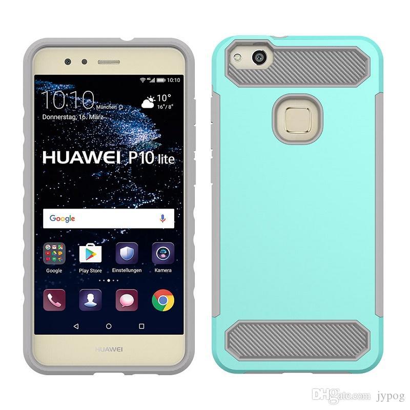Huawei P10 Lite Case Cover In Fibra Di Carbonio Cover Morbida TPU E Custodia PC Rigida Huawei P10 Lite Da Jypog, 1,65 €   It.Dhgate.Com