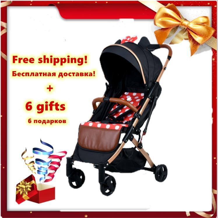 Expédition rapide! 5.8kg ultra légers enfants pliants portables poussette bébé parapluie pousser carry degré Carriage170 sur le plan