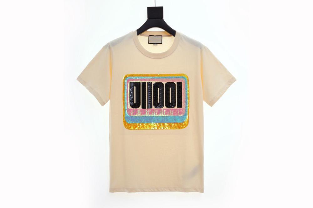 Modello magliette di estate delle donne alta versione del nuovo del Mens camicia Designer di lusso della moda di Parigi maglietta maschio superiore 100% cotone Top Tee GG6909