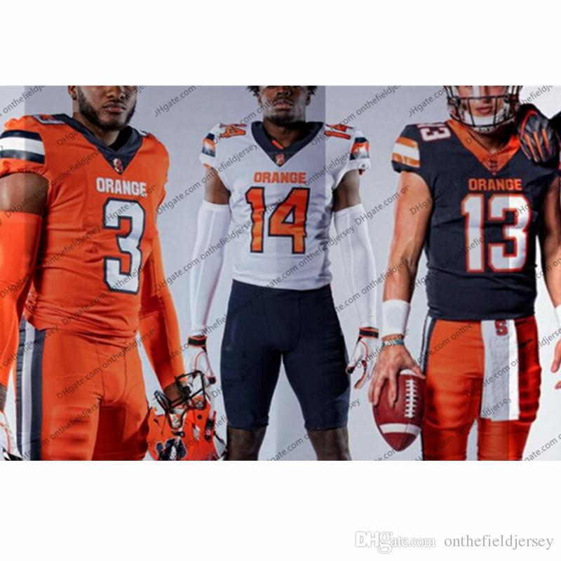 Custom Syracuse Orange 2019 New Football Jersey Cualquier nombre Número 13 Tommy DeVito 5 C. Butler 7 Andre Cisco 86 Trishton Jackson