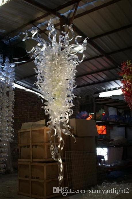 Китай завод-выход ручной выдувного стекла большие люстры свет муранского стекла Кристалл дешевые светодиодные подвесные светильники переменного тока
