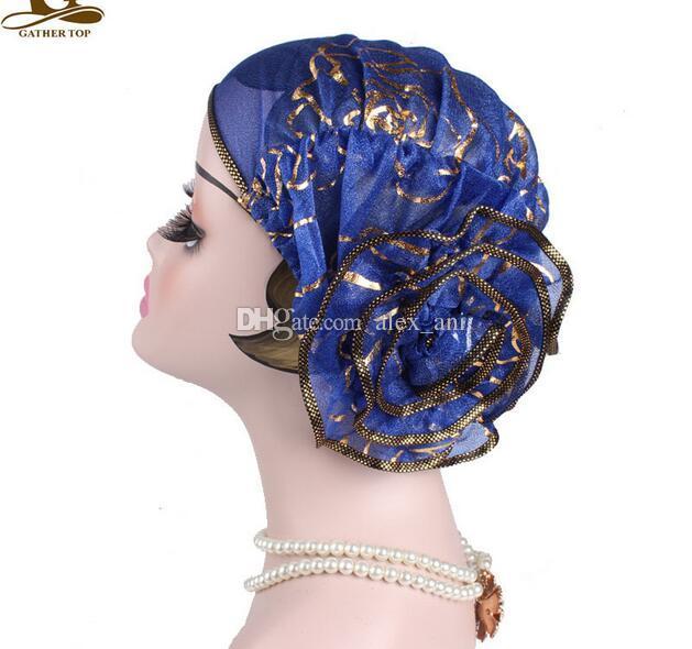 New Muslim Women Stretch Sleep Turban Hat Scarf Silky Bonnet Chemo Beanies Caps Durag hats Headwear Head Wrap Hair Loss Accessories