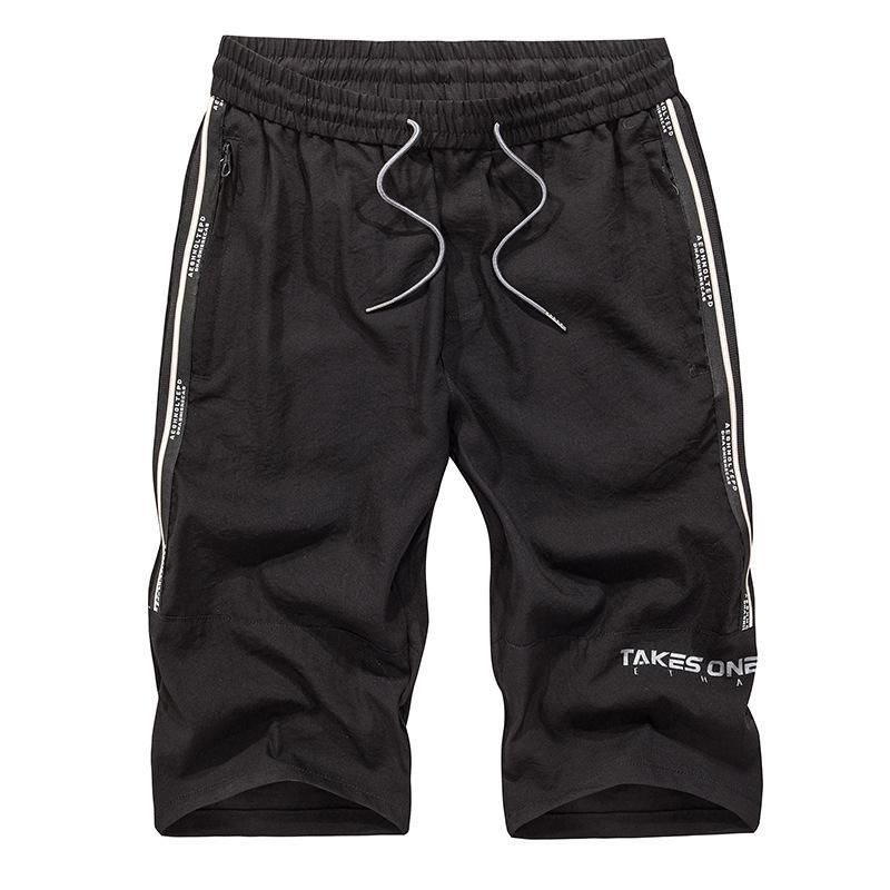 Estate Novità Uomini sei punti Shorts Moda Lace-up pantaloni al ginocchio di moda Side Bar adolescenti Pantaloncini un-Piece