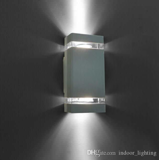 2020 nueva llegada Applique Murale Baño Wandlamp luz 6pcs / lot DHL llevada impermeable al aire libre moderno de pared de luz montado en la lámpara de aluminio IP65 8W