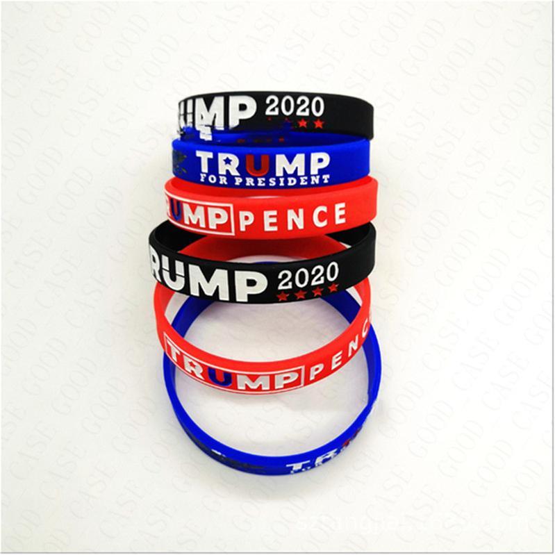 2020 Trump Donald Silica Gel Bangle Trump Keep America Great Wrist Unisex Environmental Sports Bracelets Accessories D61809