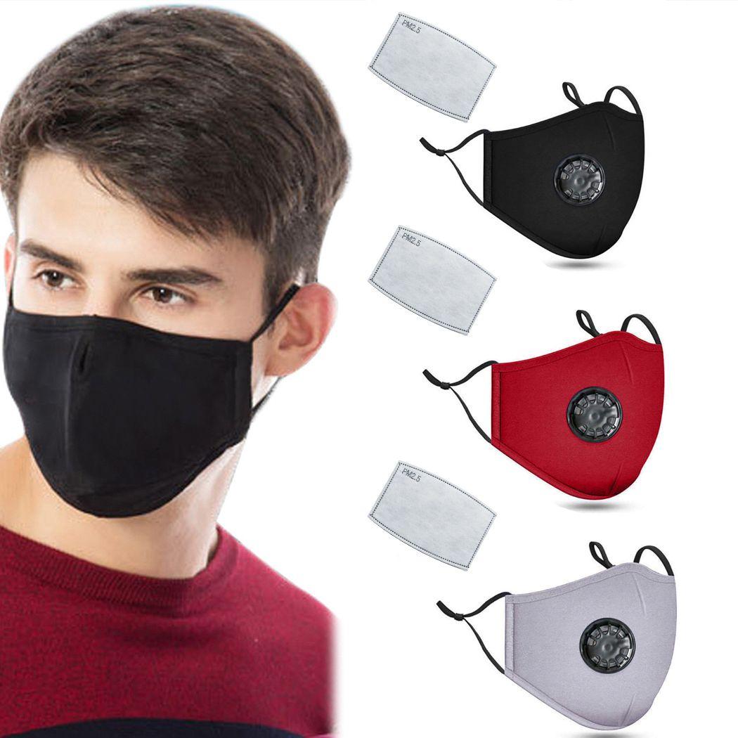 مصمم وجه قناع القطن أقنعة الوجه الأزياء الفاخرة مكافحة PM2.5 الغبار مكافحة الضباب الدخاني أقنعة الغبار الضباب مع التنفس أقنعة صمام