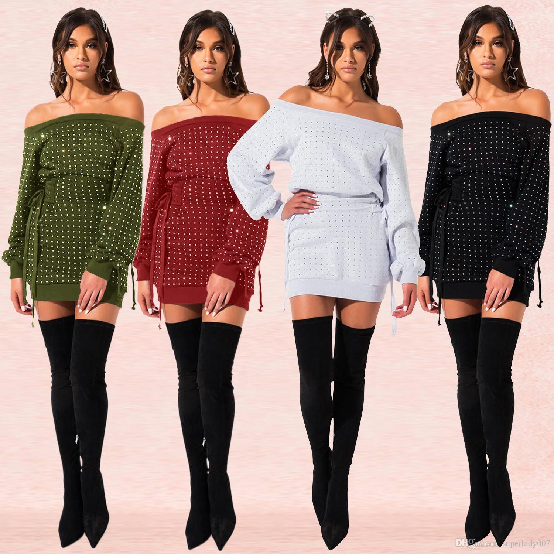 Женского горячего бурение сексуальной повязки платья свитер женского вскользь платье сексуальных ночная юбка короткие платья женщин