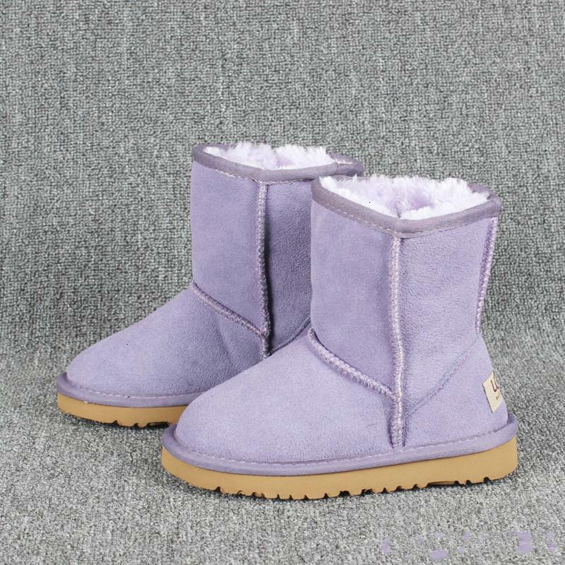 stivali invernali di moda di s dei bambini stivali ragazze neve ragazza bambini scarpe calde della pelliccia pelle stivali dimensioni euro 21-35