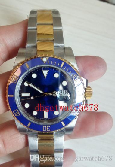 Top-Fabrik V7 Version Mens 2813 Automatik-Uhr-N Blau Dial Keramik 116613 16613 40mm automatische mechanische Herrenuhr