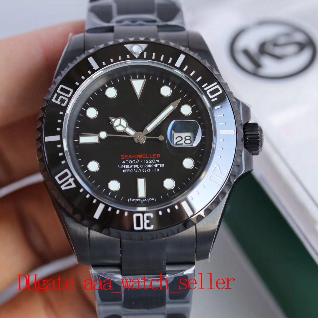 Новые мужские модные часы KS версия Красное море обитатель 126660 116710 керамическая рамка ETA 2836 автоматическое движение водонепроницаемый SS904L наручные часы