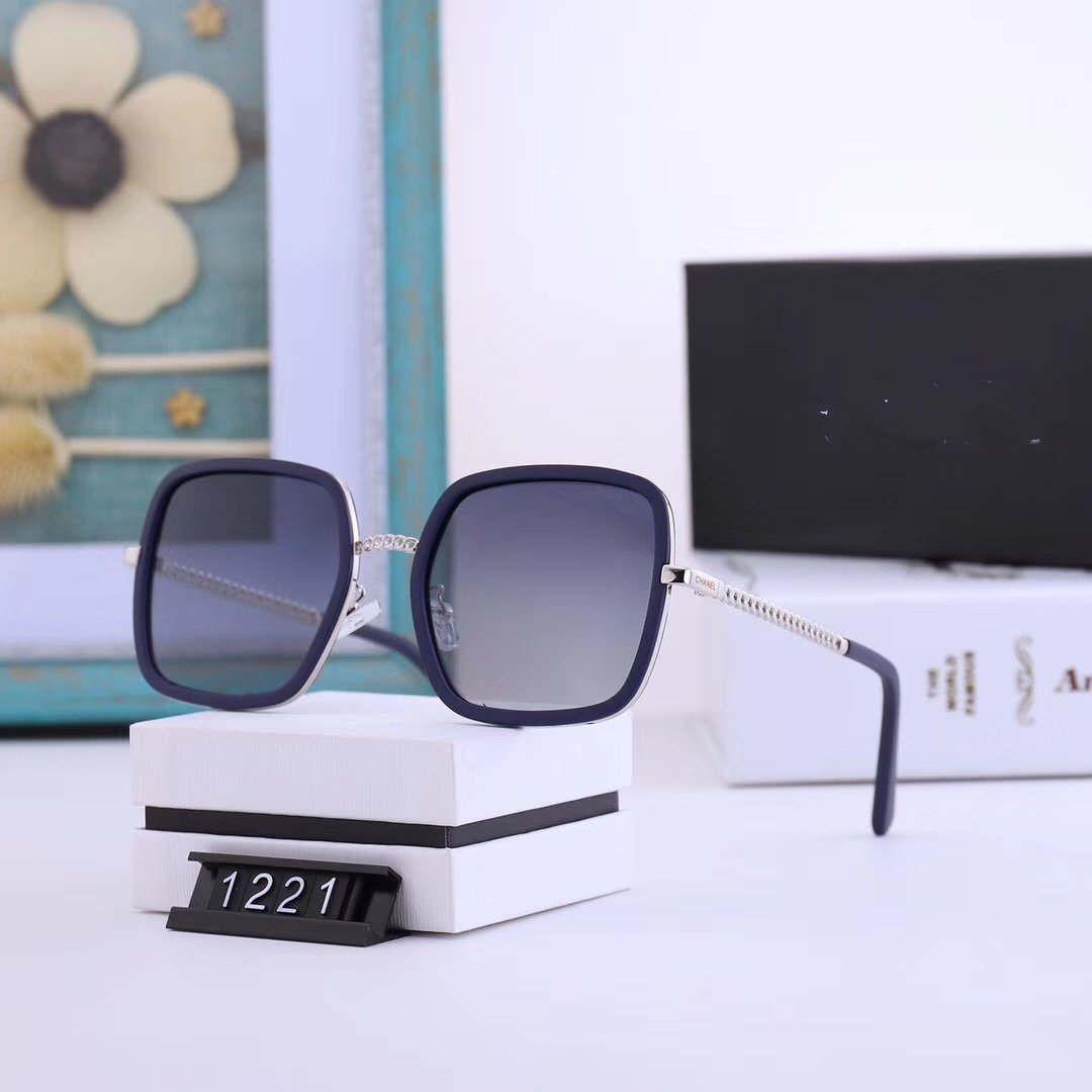 Brand designer polarizzato uomini e donne occhiali da sole, burlone di tendenza di moda che guida i vetri, occhiali da sole classici degli uomini di alta qualità 1221