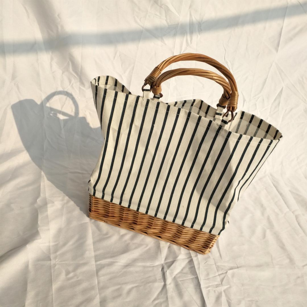 Rattan llegar Cubo bolso de la señora de la playa del totalizador del hombro del embrague de viajes Bohemia bolsos de la paja verano de las mujeres bolso de la cesta de mimbre