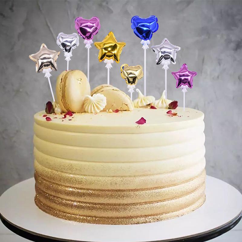 Terrific 2020 Colorful Heart Star Foil Balloon Cake Topper Birthday Party Funny Birthday Cards Online Amentibdeldamsfinfo