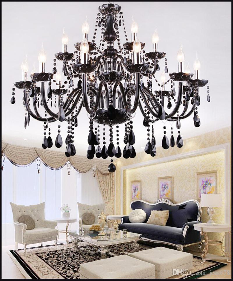 New Modern Black Crystal Chandeliers Lighting For Living Room Bedroom Indoor Lamp K9 Crystal Lustres De Teto Ceiling Chandelier Light Moroccan Pendant Lamp Ceiling Lights From Jess678 273 12 Dhgate Com,Blue Wall Living Room Ideas