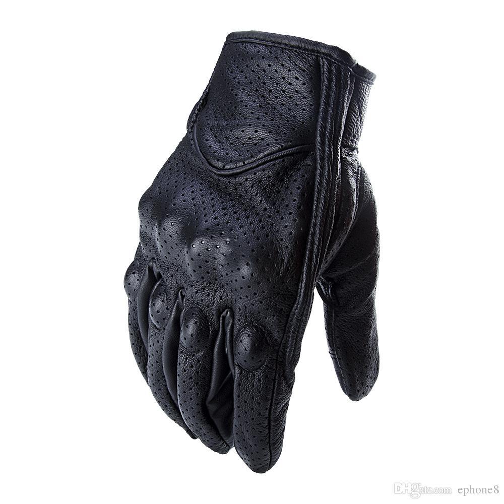 2019 VENTA CALIENTE guantes de cuero sin marcar motocicletas de carreras de cross country guantes de cuero estilo clásico envío gratis