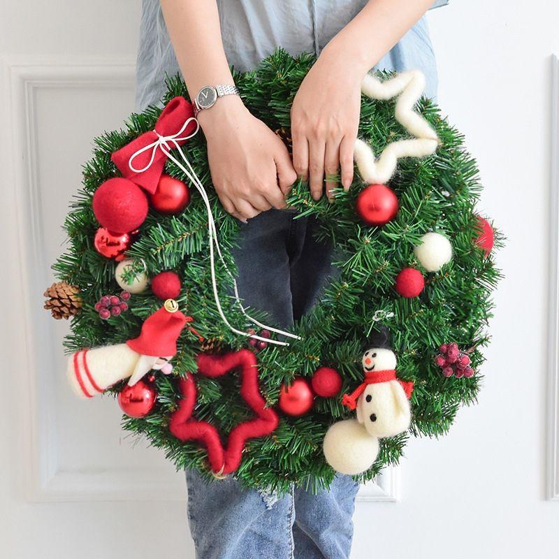 40CM boneca Tapeçaria da grinalda do Natal Decoração para o ornamento Garland Porta Xmas Party Home Decor férias Acessórios