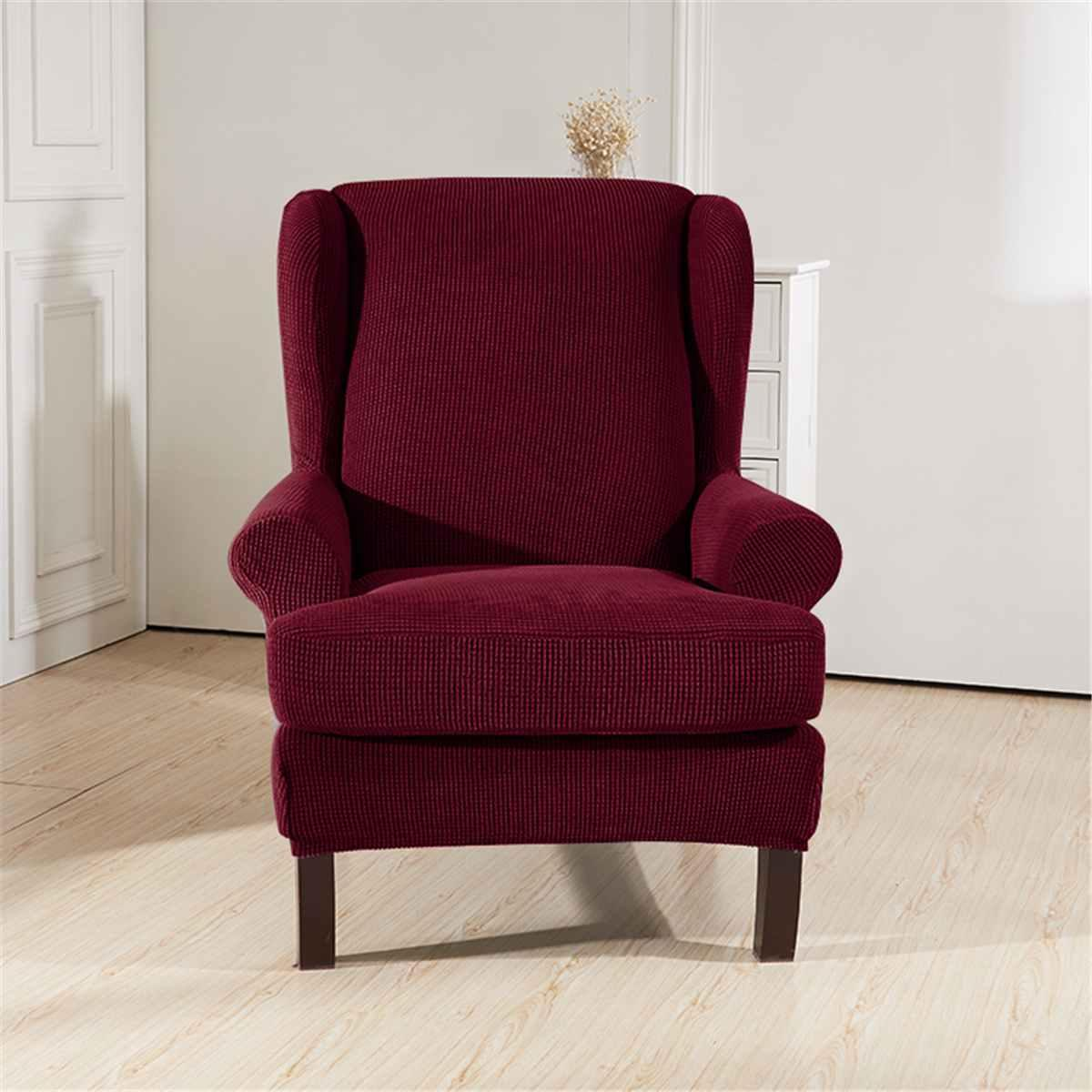 Inclinada Arm Rei Voltar Cadeira Coberta Elastic Poltrona Wingback poltrona Voltar Cadeira Coberta estiramento Protector slipcover Protector