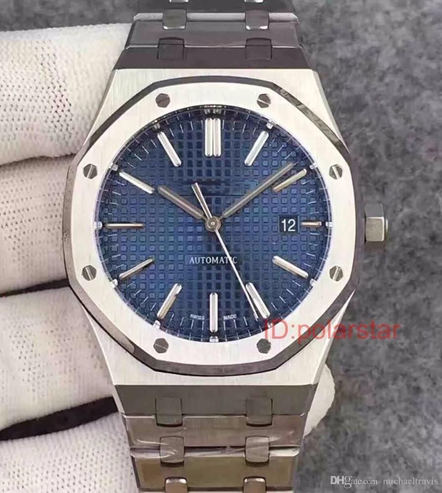 Uomini in oro rosa blu Blue Acciaio inox Business Mens Movimento automatico Orologi meccanici Designer Men Reloj de Lujo Guarda orologi da polso