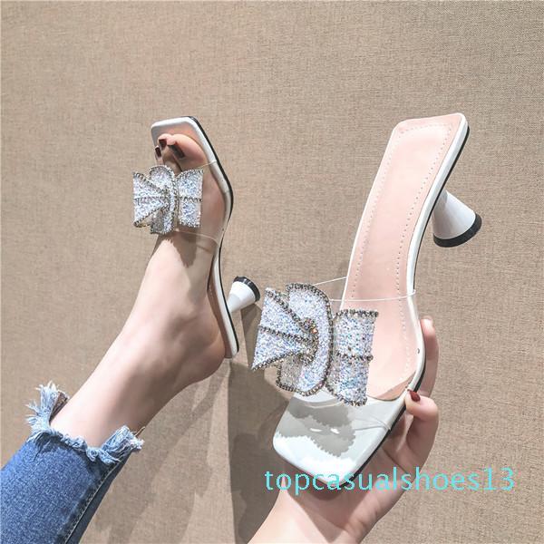 Schuhe der Frau Hausschuhe Schmetterling-Knoten Shallow Luxus Slides Loafers Shose Frauen Med 2020 Designer Soft-Skandale Frühling Stoff t13