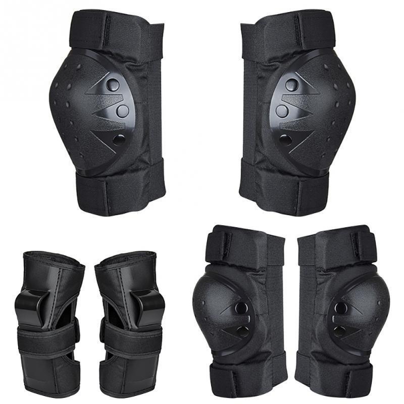6pcs / set de patinaje de protección Gear Set coderas bicicletas monopatín de hielo Patín de ruedas rodilla del protector para el adulto Regalo Niños
