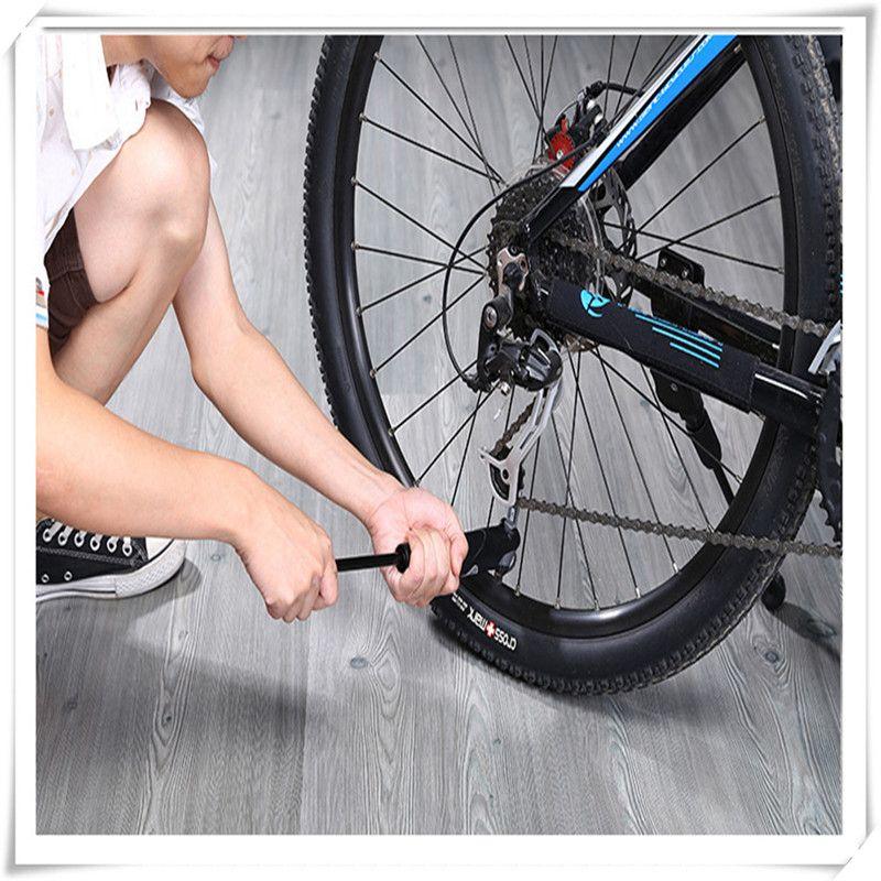 Cycling Bike Mini Air Pump Portable w//gauge for Presta/&Schrader tire valve use