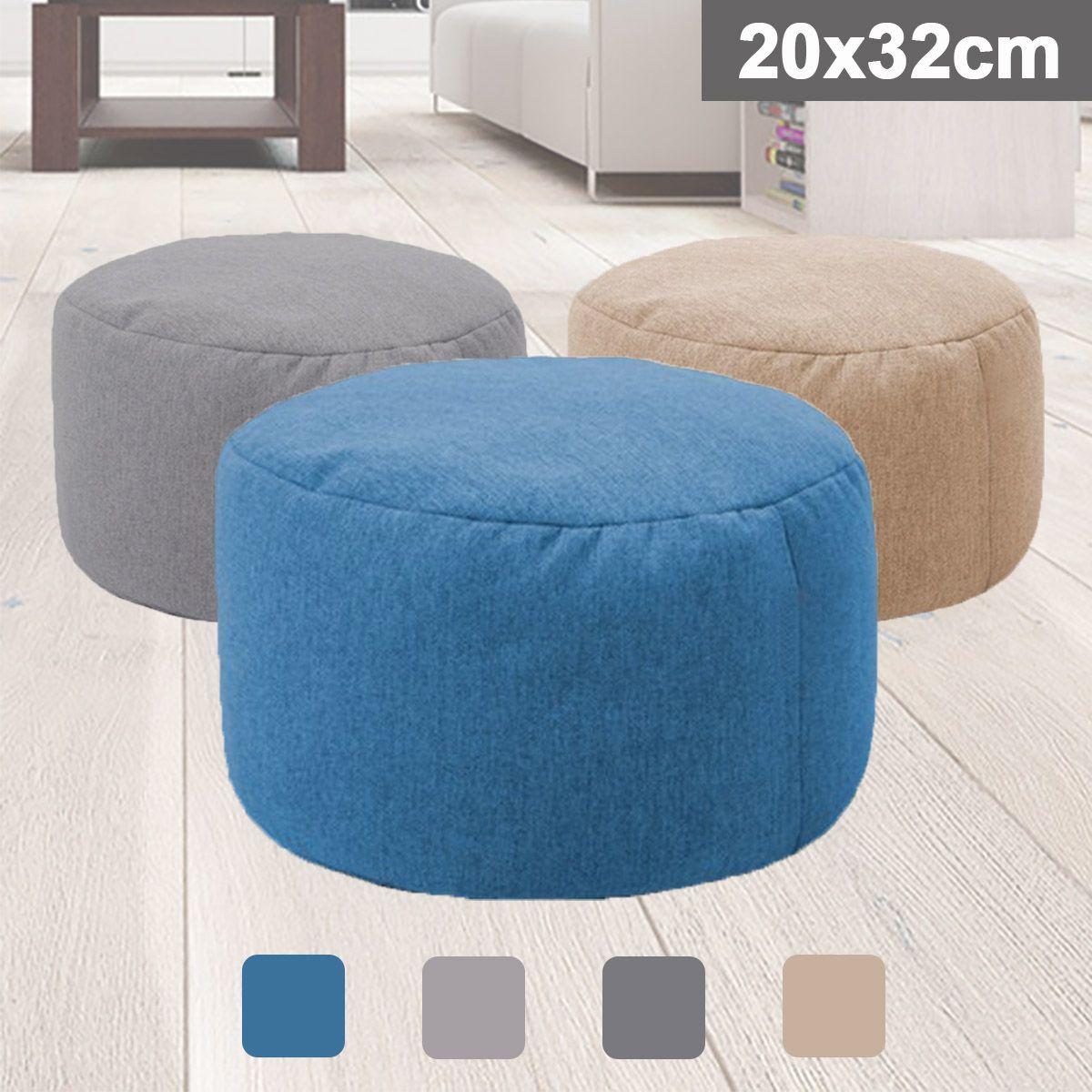 Kleiner runder Sitzsack Sofa Abdeckung Wasserdichte Gaming-Bett Stuhl-Sitz Sitzsack Solid Color Lounger Chair Sofa Baumwolle Leinen Stuhl Cove