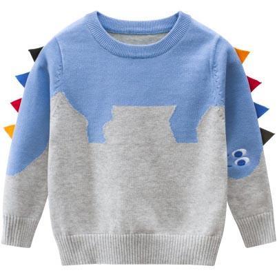 مصمم الأطفال البلوزات الاطفال البلوز الملابس بنين الديناصور سترة بنات القمم عارضة الحفاظ على الدفء ملابس الأولاد سترة الساخن بيع