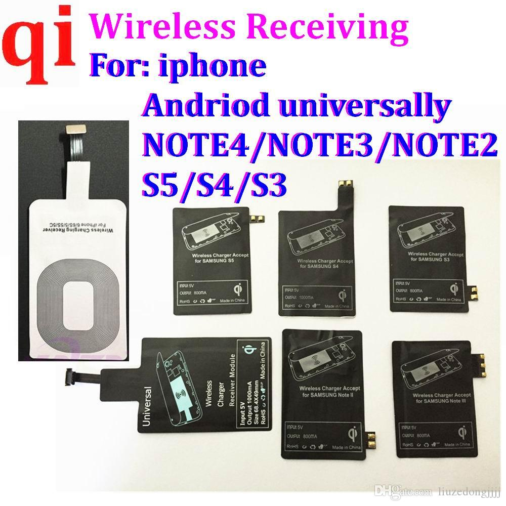 universal TYPE C Qi Wireless Charger Receiver Charging Receptor Pad Coil Adapter For Samsung Galaxy S5 S3 S4 NOTE 4 3 500Pcs/lot