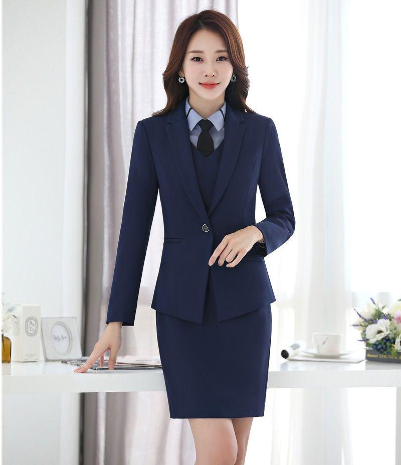 Compre Trajes Formales De Vestir Para Mujer Conjuntos De Chaqueta Y Chaqueta De Negocios Elegantes Uniformes De Oficina Estilos Vestido De Traje A