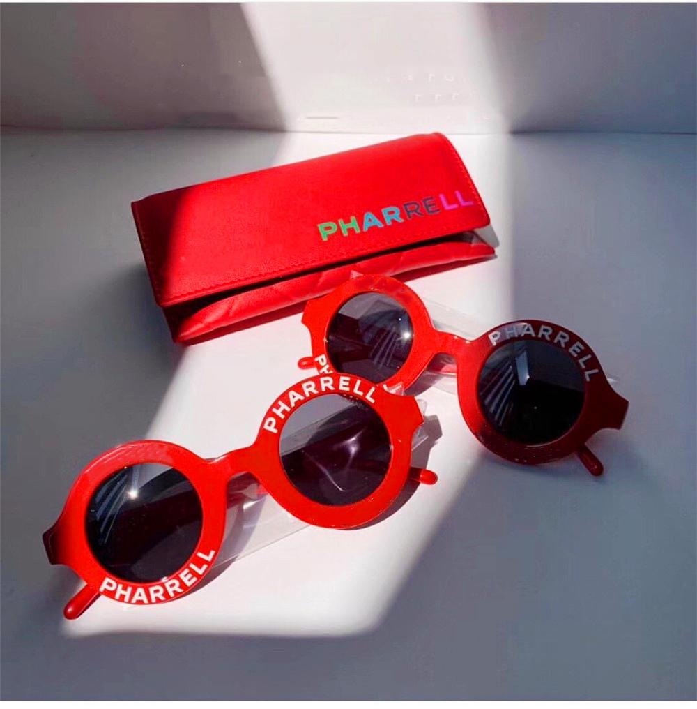 Trendy Women Luxury Designer Beach Sun Glasses Brand Sunglass Round Ladies Sunglasses Pink Sunglasses Driving Eyewear Anti Refelction UV400