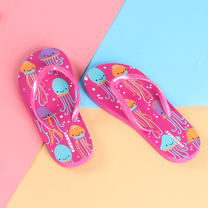 2019 Top New Fashion Summer Slippers Cute Lovely Little Octopus Flip Flops for Children Kids Girls Boys Slippers Comfortable to Wear