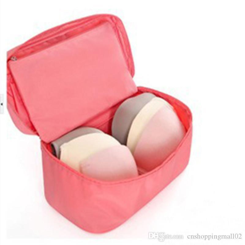 Bolsa de almacenamiento de accesorios de viaje de las mujeres por la ropa interior de la ropa interior del sujetador de ropa Organizador neceser Maleta bolsa